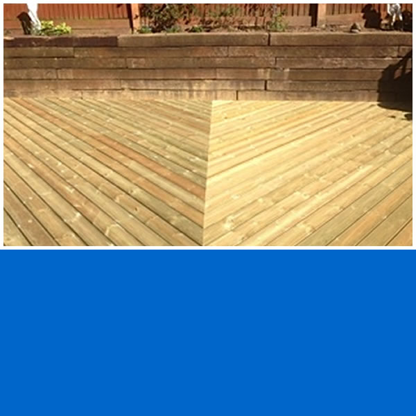 Photo of Palm Design Decking Job in Ockley.