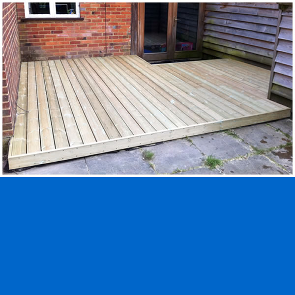 Photo of Softwood Decking Area.
