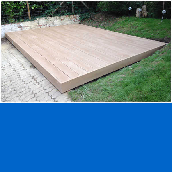 Photo of simple decking area finished with Millboard Composite decking.