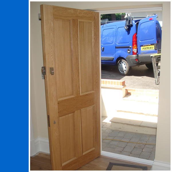 Photo of Solid Oak Front Door.