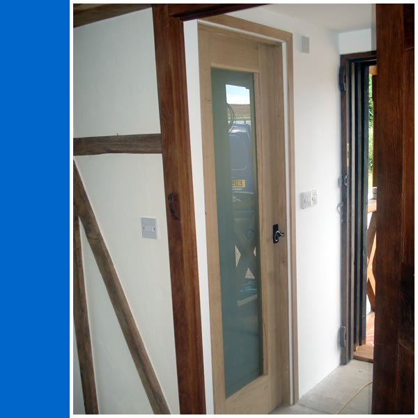 Photo of Solid Oak Glazed Internal Door.