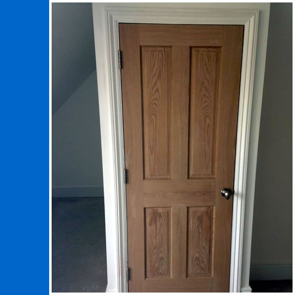 Photo of Oak Fire Rated Door.
