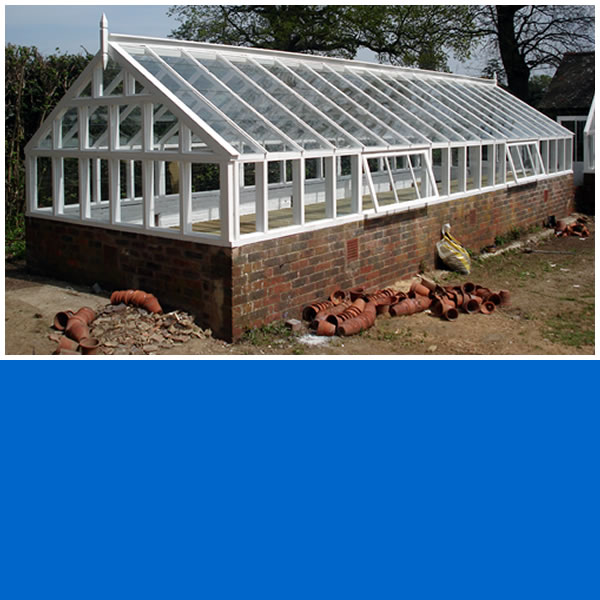 Photo of Softwood Timber Framed greenhouse in Ockley.