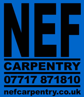NEF Carpentry logo.
