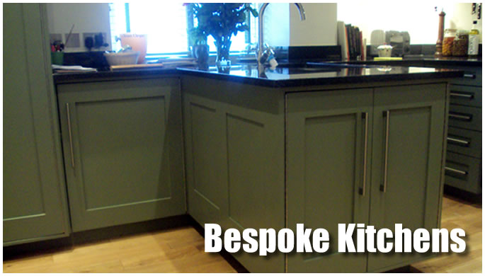 Bespoke kitchens display image.