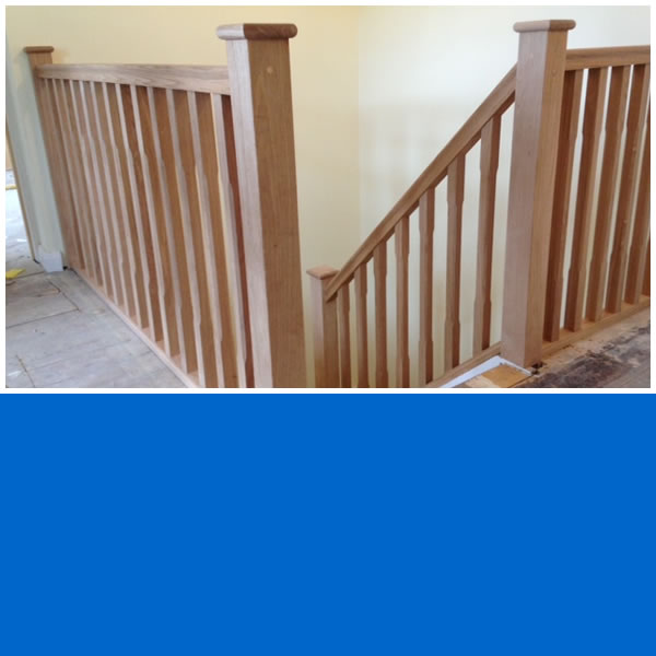 Photo of Posts, Handrails and Spindles fitted to existing staircase.